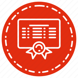 award, certificate, degree, diploma, document icon