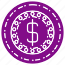cash, coin, currency, dollar, finance icon