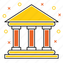 bank, banking, building, cash, finance, money icon