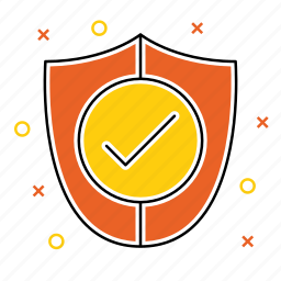 accept, checkmark, protect, protection, secure, security, shield icon