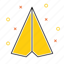 document, email, mail, message, paper, plane, send icon