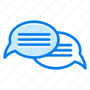 bubble, chat, message, talk icon