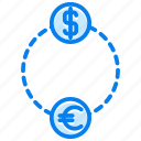 currency, dollar, exchange, financial, money icon