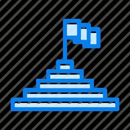 flag, goal, location, pin icon
