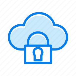 cloud, lock, protection, safe, secure, security, storage, weather icon