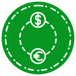 business, exchange, finance, marketing icon