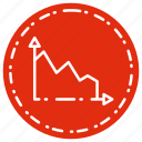 business, diagram, finance, graph, marketing icon