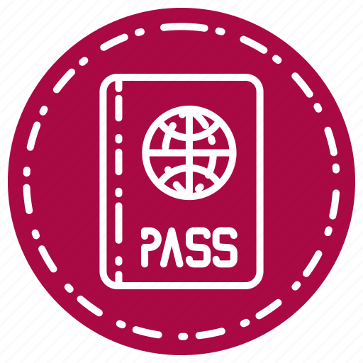 business, finance, marketing, pass icon