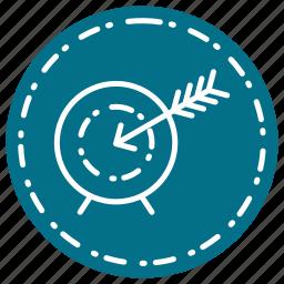 business, finance, goal, marketing, target icon