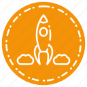 business, finance, goal, marketing, rocket, seo, target icon