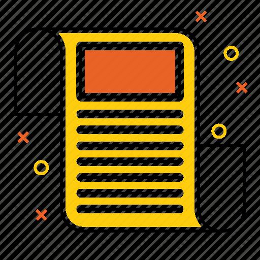 article, blog, item, news, newspaper, paper, press icon
