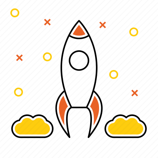 goal, launch, rocket, seo, space, target icon