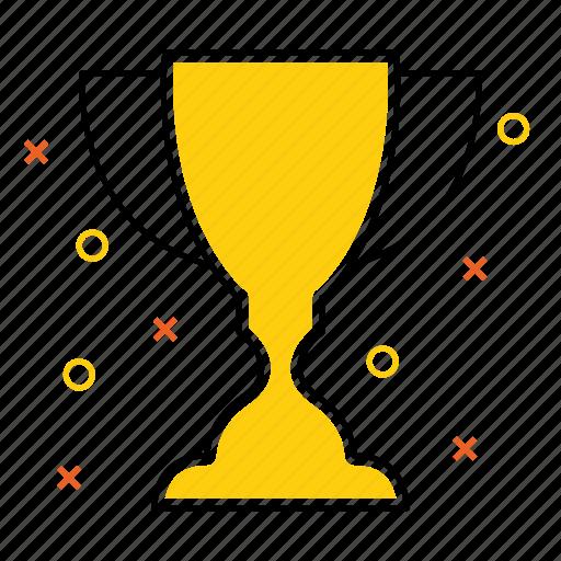 achievement, award, best, gold, prize, trophy, win icon