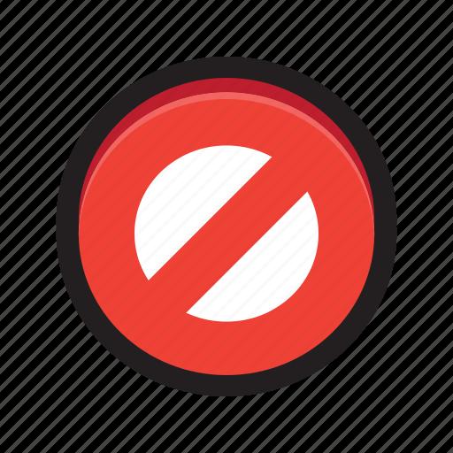 ban, cancel, delete, no, private, stop icon