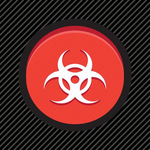 biohazard, danger, hazard, malicious, malware, toxic icon