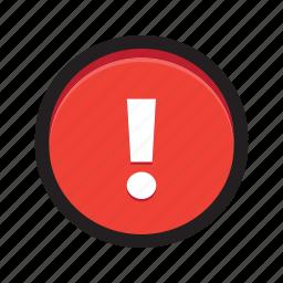 alert, danger, exclamation, notification, reminder, warning icon