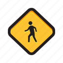 people, public, share, sign, walk icon