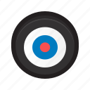 bull's eye, bullseye, end, goal, target icon