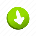 buttons, down, download icon