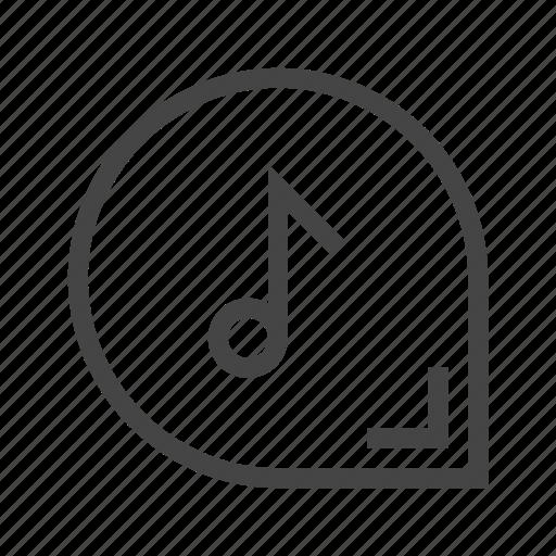 audio, button, media, multimedia, music, note, sound icon