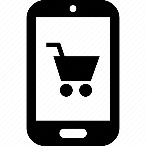 cart, cell, mobile, online, phone, shop, shopping icon