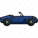 cabriolet car, car, convertible car, personal car, sports car, transport, transportation icon