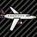 airplane, aircraft, travel, transportation, transport, air, plane icon