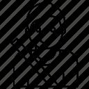 avatar, man, passenger, seatbelt icon
