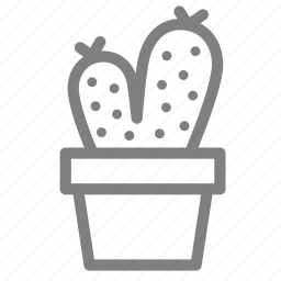 cacti, plant, pot, prickles, succulent icon