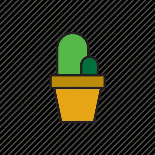 botanical, cacti, cactus, flowerpot, plant, pot, succulent icon