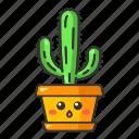 cactus, character, cute, elephant, emoji, kawaii, succulent icon