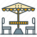 cafe, parasol, restaurant, terrace, umbrella icon