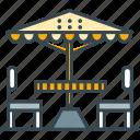 cafe, parasol, restaurant, terrace, umbrella