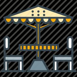 cafe, parasol, restaurant, terrace, umbrella icon