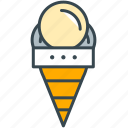 cafe, cone, cream, ice, restaurant icon