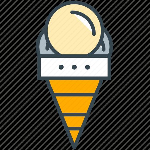 cafe, cone, cream, ice, restaurant icon