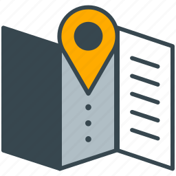 cafe, location, map, pointer, restaurant icon