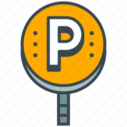 cafe, car, lot, park, parking, restaurant, vehicle icon