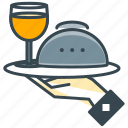 cafe, dinner, drink, meal, restaurant, wine icon