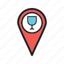 app, bar, cafe, gps, location, mark, tag icon