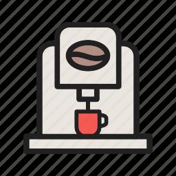 bar, cafe, coffee, drink, machine, maker, mixer icon