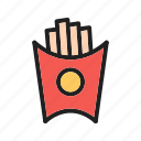 cafe, chips, food, fries, potato, salty, snack icon
