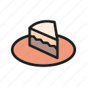 cafe, cake, celebration, chocolate, cream, dessert, food icon