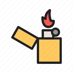 bar, cafe, cigarette, flame, light, lighter, smoke icon