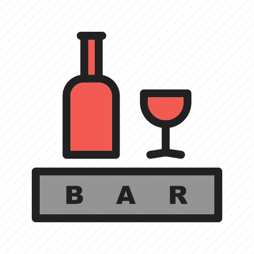 bar, cafe, cocktail, drink, open, sign, snack icon