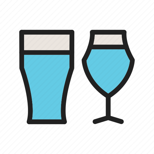 bar, beer, cafe, drink, glass, wine, wineglass icon