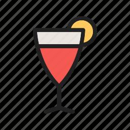 alcohol, bar, cocktail, cosmopolitan, glass, juice, lime icon
