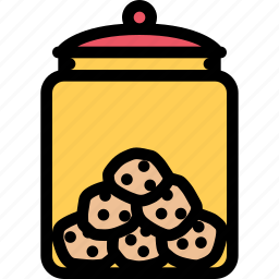cafe, coffee shop, cookie, dessert, jar, pastry, pastry shop icon