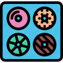 cafe, coffee shop, dessert, donuts, pastry, pastry shop icon