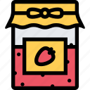 cafe, coffee shop, dessert, jam, pastry, pastry shop icon